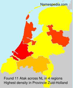 Surname Atak in Netherlands