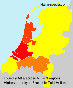 Surname Attia in Netherlands