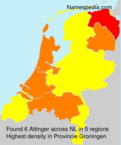 Surname Attinger in Netherlands