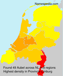 Familiennamen Aubel - Netherlands