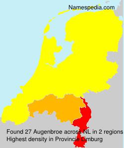 Surname Augenbroe in Netherlands