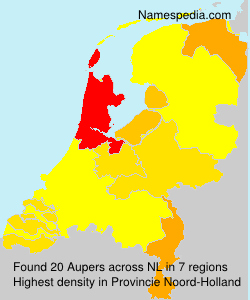 Surname Aupers in Netherlands