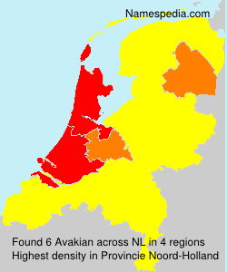 Familiennamen Avakian - Netherlands