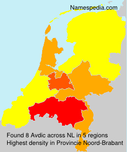 Surname Avdic in Netherlands
