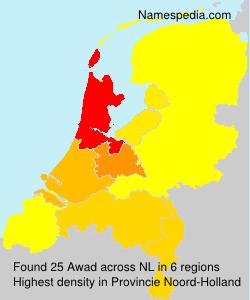Surname Awad in Netherlands