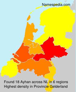 Surname Ayhan in Netherlands