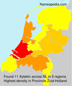 Surname Aytekin in Netherlands