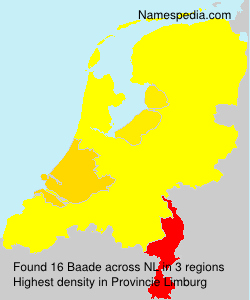 Surname Baade in Netherlands