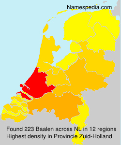 Surname Baalen in Netherlands