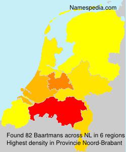 Surname Baartmans in Netherlands