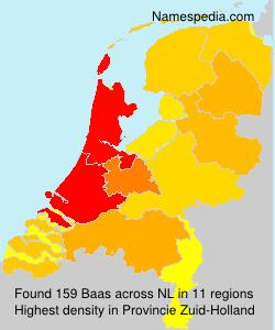 Surname Baas in Netherlands