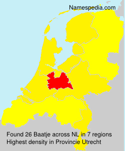 Surname Baatje in Netherlands