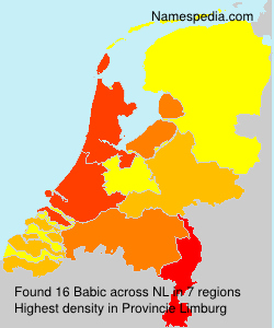 Surname Babic in Netherlands