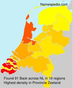 Surname Back in Netherlands