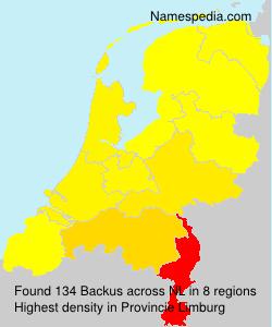 Surname Backus in Netherlands