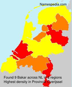 Surname Bakar in Netherlands