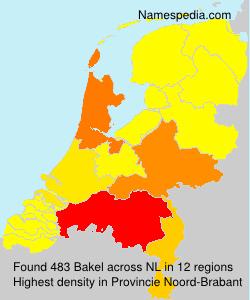 Surname Bakel in Netherlands
