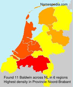 Surname Baldwin in Netherlands