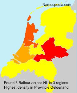 Surname Balfour in Netherlands