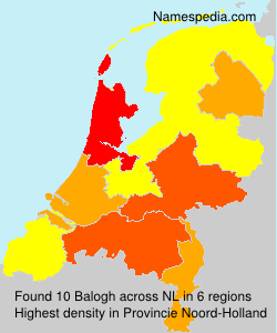 Surname Balogh in Netherlands