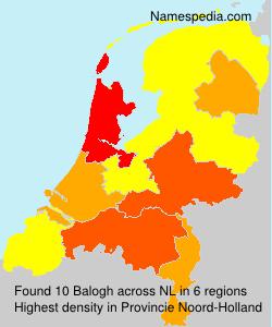 Surname Balogh in Netherlands