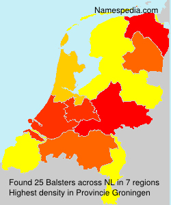Familiennamen Balsters - Netherlands