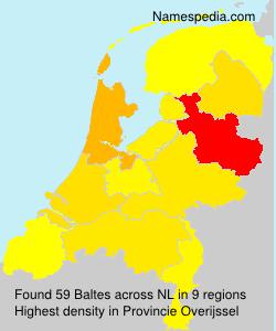 Familiennamen Baltes - Netherlands