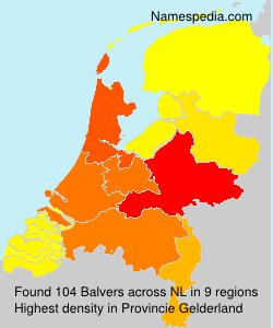 Surname Balvers in Netherlands