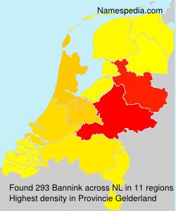 Surname Bannink in Netherlands