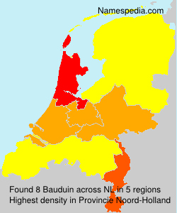 Surname Bauduin in Netherlands