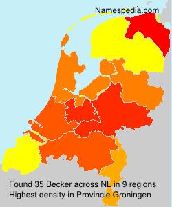 Familiennamen Becker - Netherlands