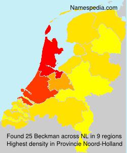 Surname Beckman in Netherlands