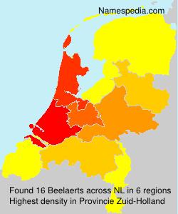 Familiennamen Beelaerts - Netherlands