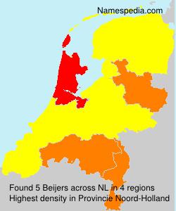 Familiennamen Beijers - Netherlands