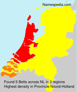 Surname Betts in Netherlands
