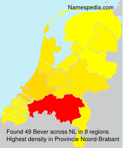 Surname Bever in Netherlands
