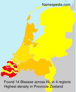 Surname Blaasse in Netherlands