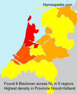 Surname Blackman in Netherlands