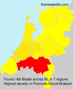 Surname Bladel in Netherlands