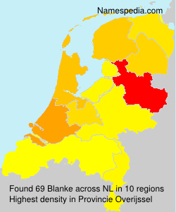 Surname Blanke in Netherlands