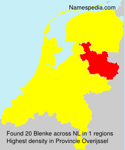 Surname Blenke in Netherlands