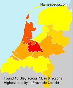 Surname Bley in Netherlands