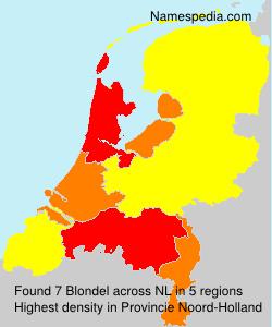 Surname Blondel in Netherlands