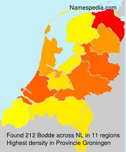 Surname Bodde in Netherlands
