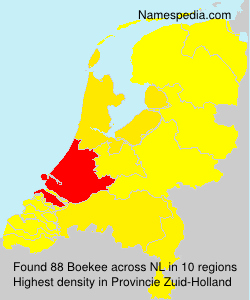 Surname Boekee in Netherlands