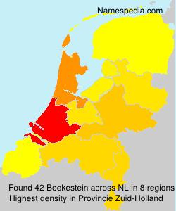Familiennamen Boekestein - Netherlands