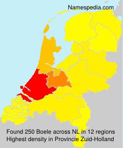 Surname Boele in Netherlands