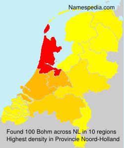 Surname Bohm in Netherlands