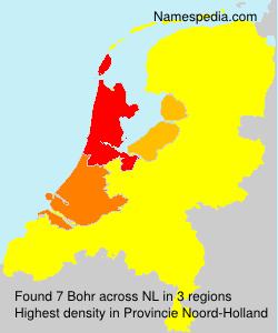 Familiennamen Bohr - Netherlands