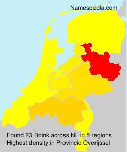 Familiennamen Boink - Netherlands